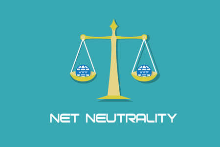 neutrality: Net Neutrality free internet access illustration concept