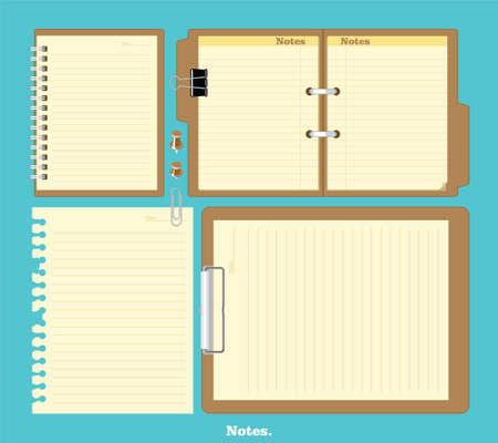notebook page: Mockup notebook with stylish illustration design