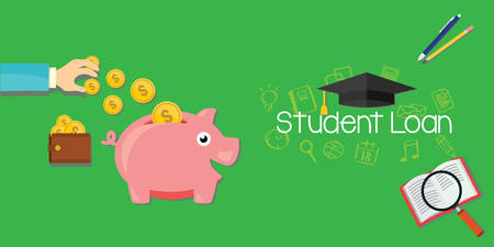 loans: student loans debt for education vector illustration Illustration
