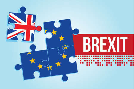 wales: eu british referendum europe union exit britain break vector illustration