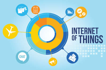 Internet of Things with colorful infographic vector illustration design