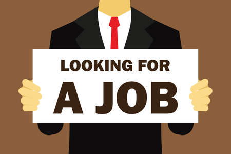 looking for: looking for a job vector illustration flat design