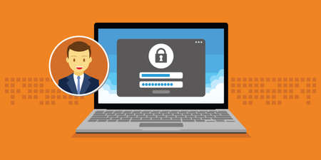 access granted: access management authorize software authentication login form system vector illustration