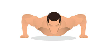 man push up exercise vector illustration design