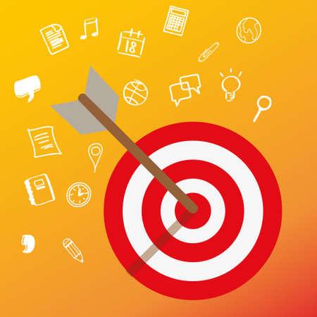targeting: targeting customer head mind niche target market marketing concept business vector
