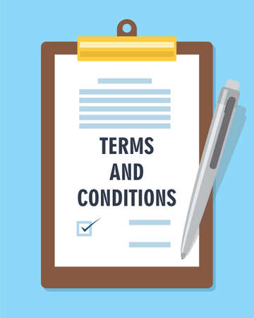use regulation: terms and condition agreement contract vector illustration Illustration