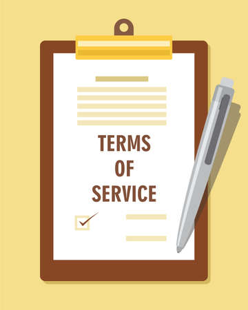 use regulations: terms of service agreement contract vector illustration