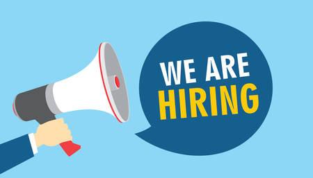 we are hiring vacancy open recruitment vector