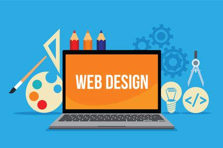 Web Design Concept vector illustration flat design