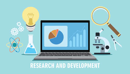 research and development r d concept innovation design
