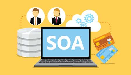 web portal: SOA service oriented architecture vector illustration design Illustration