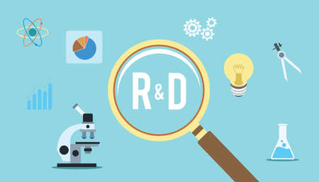 research and development r d concept innovation vector
