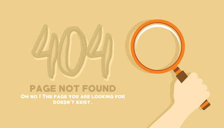page not found looking in the sand illustration vector Çizim