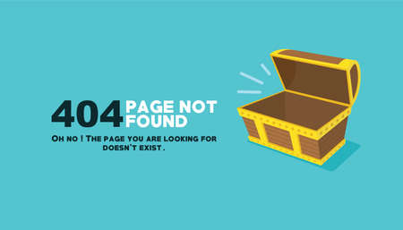 page not found: page not found empty chest illustration vector design