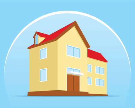 home protection shield flat design illustration vector Illustration