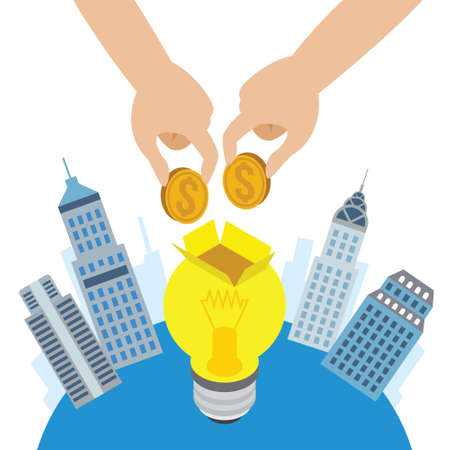 collective: crowd funding concept icons vector illustration design Illustration
