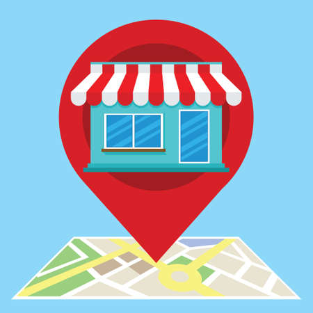 local search marketing ecommerce 版權商用圖片 - 69256418