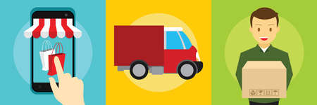 shopping order: online shopping order and delivery process