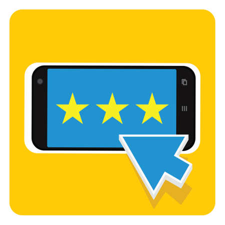 A A simple rating select on smartphone.