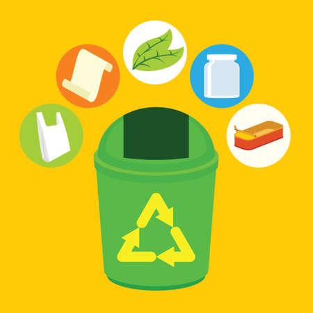 recycle trash bin vector illustration design concept Stock Photo