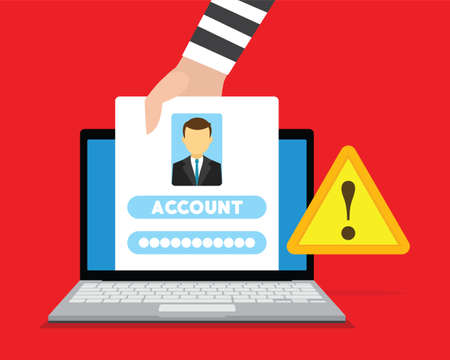 account: account stealing by hackers Stock Photo