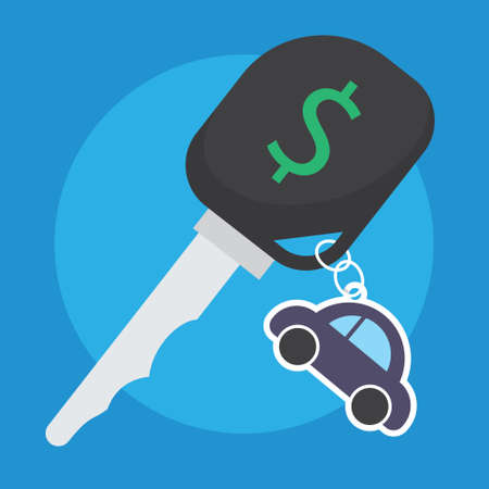 cal: rent cal business with key and car illustration