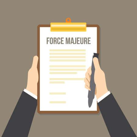 fuerza mayor incluida en los contratos para eliminar la responsabilidad por catástrofes inevitables que restringen a los participantes que cumplen obligaciones