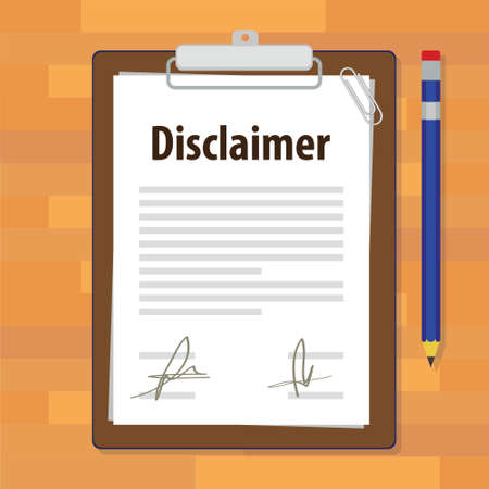 abandonment: disclaimer document paper legal agreement signed vector illustration