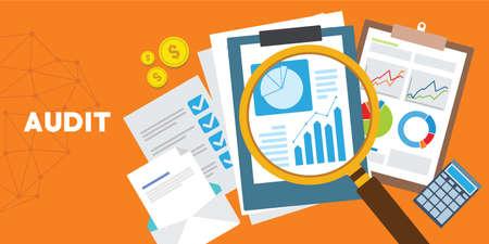 systematic and independent examination audit system vector illustration Ilustração