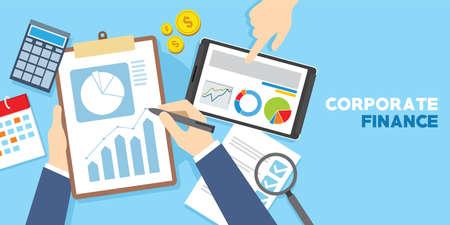 Corporate Finanzmanagement Ziel Vektor-Illustration Konzept Standard-Bild - 82233551