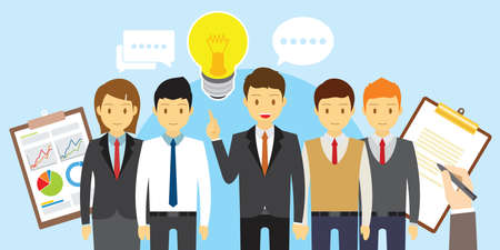 vector business teamwork people meeting and brainstorm illustration