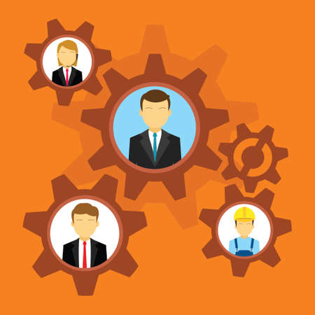 project management and teamwork vector illustration design concept 向量圖像