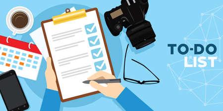 Reizen om lijst en tijdbeheer te doen