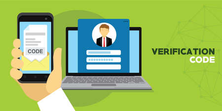 Verification code message confirmation for account Vectores
