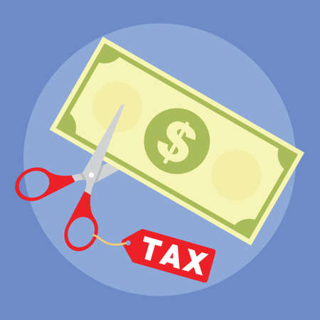 get a tax cut from goverment 向量圖像