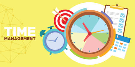 time management and schedule 向量圖像