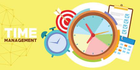 Zeitmanagement und Zeitplan Standard-Bild - 83992913