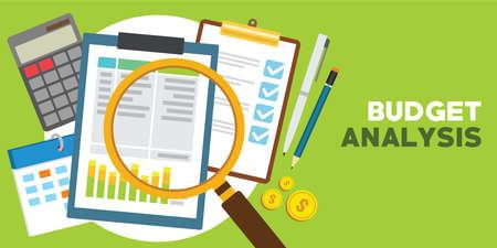 Financial and monetary budget analysis Illustration