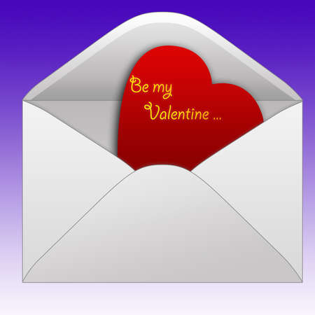 a letter whit a heart inside,suitable for the Valentines day Vector