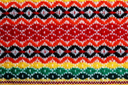 Traditional bulgarian embroidery .The russian,ukranian ,serbian,ungarian,turkish ,greek,serbian ebroideryes are similar, can use present these cuntries. Stock Photo