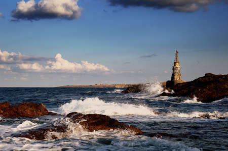 lighthouse in Achtopol ,Bulgaria
