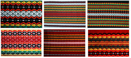 Six different embroidery in one file 18mp  Traditional bulgarian embroidery ,used on covers ,dresses ,napkins , tableclodes The russian,ukranian ,serbian,ungarian,turkish ,greek,serbian are similar Stock Photo - 12805305