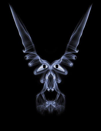 Abstract smoke background  with curves photo