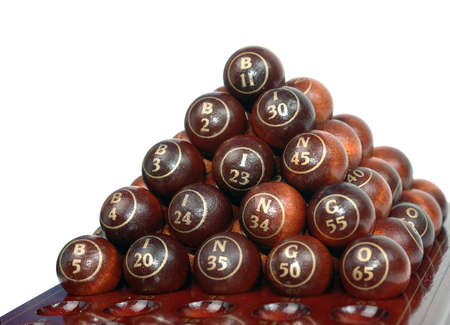 Bingo table whith balls Stock Photo - 12963515