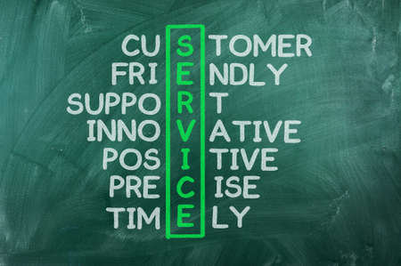 customer service concept on blackboard-customer friendly support Stock Photo - 14103221