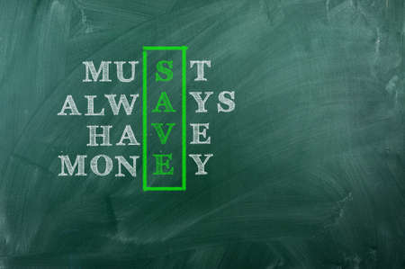 Acronym of Save - Must Always Have Money photo