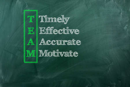 acronym of Team - Timely , Effective ,Accurate ,Motivated photo