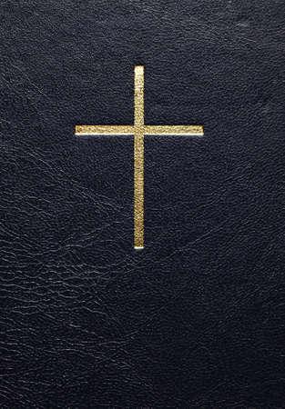 historias de la biblia: una biblia de cuero close up Foto de archivo
