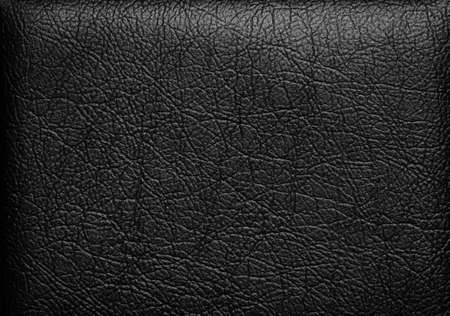 Gros plan de texture de cuir noir transparent photo
