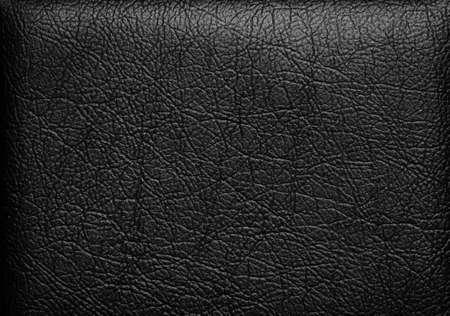 cuir: Gros plan de texture de cuir noir transparent